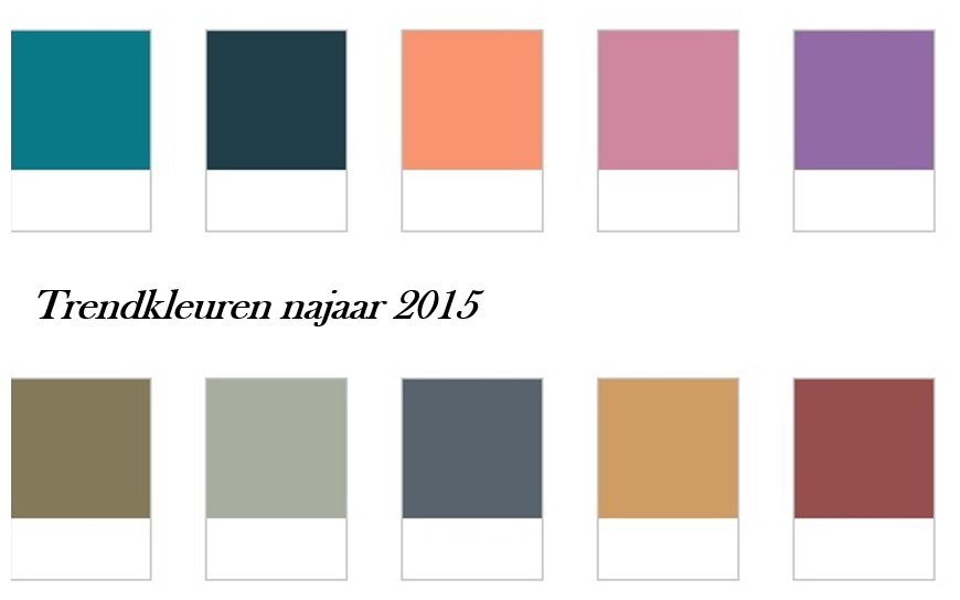 trendkleuren najaar 2015