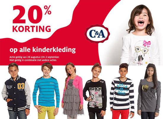 Kinderkleding Korting.20 Korting Op Alle Kinderkleding C A